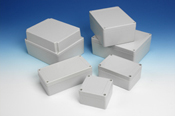 NEMA 4 / IP65 Cases 11 sizes from 2.0 x 2.0 to 10.0 x 8.0""