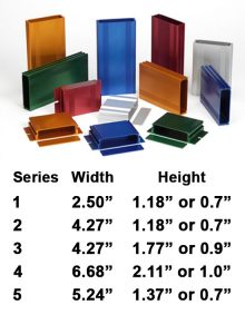 BEX Series Anodized Extruded Aluminum Enclosures